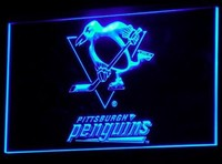 Pittsburgh Penguins Neon Sign (Bar. Club. Light. B099-y. LED)
