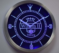 Willem II Tilburg Eredivisie Football Neon Sign LED Wall Clock