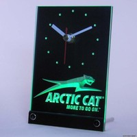 Arctic Cat Snowmobiles Table Desk 3D LED Clock