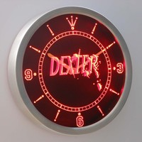 Dexter Morgan 3D Neon Sign LED Wall Clock NC0228-R