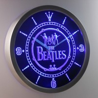 The Beatles 3D Neon Sign LED Wall Clock NC0145-B