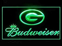 Green Bay Packers Budweiser Neon Sign (LED. Light)