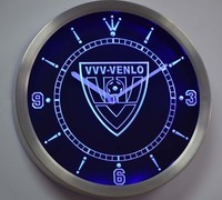 VVV-Venlo Eerste Divisie Netherlands Football Neon Sign LED Wall Clock