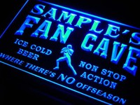 Name Personalized Custom Football Fan Cave Bar Beer Neon Sign