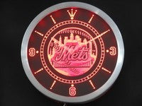 New York Mets Neon Sign LED Wall Clock