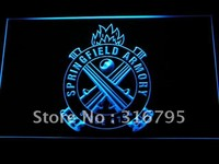 Springfield Armory Firearms Gun Logo LED Neon Sign