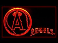 L.A. Anaheim Angels Neon Sign (Baseball. LED. Light)