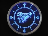 Toronto Blue Jays Neon Sign LED Wall Clock