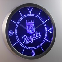 Kansas City Royals Neon Sign LED Wall Clock