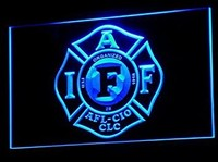 Fire Rescue IAFF FireFighters Neon Sign (Light. LED. Man Cave. B255-B)