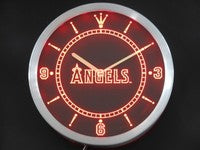 Anahelm Angels Neon Sign LED Wall Clock