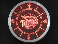 Minnesota Twins Neon Sign LED Wall Clock