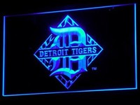 Detroit Tigers Neon Sign (B117-b. Light. Bar. Baseball. LED)