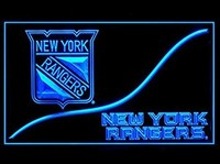 New York Rangers Neon Sign (Cool. LED. Light. NY)