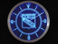 New York Rangers Neon Sign LED Wall Clock