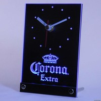 Corona Extra Beer 3D LED Table Desk Clock