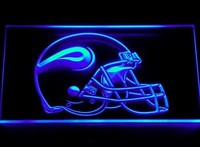 Minnesota Vikings Helmet Neon Sign (245-b. Light. Bar. LED)