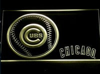 Chicago Cubs Neon Sign (Light. 266-r. Baseball. Gifts. LED)