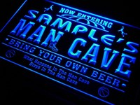 Name Personalized Custom Man Cave Basketball Bar Neon Sign
