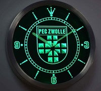 PEC Zwolle Eredivisie Football Neon Sign LED Wall Clock