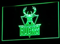 Milwaukee Bucks Neon Sign (B016-b. LED)