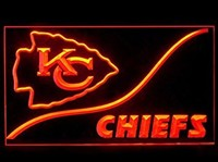Kansas City Chiefs Neon Sign (KC. Cool. LED. Light)