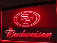 San Francisco 49ers Budweiser Neon Sign (Light. LED)