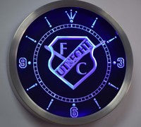 FC Utrecht Football Club Eredivisie Neon Sign LED Wall Clock