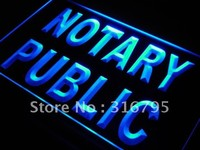 Notary Public Neon Sign (Light Service Office LED)