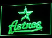 Houston Astros Neon Sign (Baseball LED. MLB. Bar. Light. B135-r)