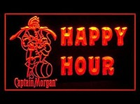 Captain Morgan Rum Happy Hour Drink Led Light Sign
