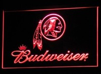 Washington Redskins Budweiser Neon Sign (Nr. Light. B290-y. LED)