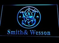 Smith & Wesson Neon Sign (Man Cave. D239-B. Gun. Firearms. Logo. LED. Light)