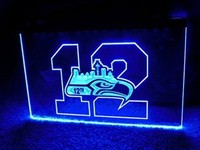 Seattle Seahawks 12th Man Neon Sign (Bar Beer. LED)