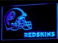 Washington Redskins Helmet Neon Sign (Light. B340-y. Bar. LED)