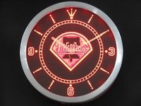 Philadelphia Phillies Neon Sign LED Wall Clock