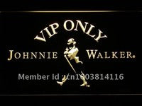 VIP Only Johnnie Walker Whiskey LED Neon Sign