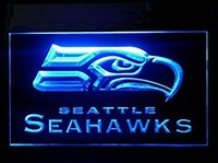Seattle Seahawks Neon Sign (Football. LED. Light)