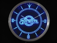 Milwaukee Brewers Neon Sign LED Wall Clock