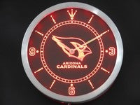 Arizona Cardinals Neon Sign LED Wall Clock