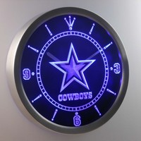 Dallas Cowboys Neon Sign LED Wall Clock