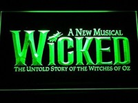 Wicked The Musical Bar Neon Sign (LED. Man Cave. C168-G)