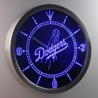 Los Angeles Dodgers Neon Sign LED Wall Clock