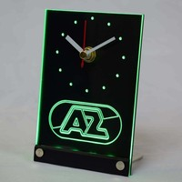 AZ Alkmaar Zaanstreek Eredivisie 3D LED Table Desk Clock