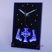Boondock Saints Table Desk 3D LED Clock