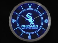 Chicago White Sox Neon Sign LED Wall Clock