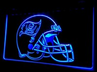 Tampa Bay Buccaneers Helmet Neon Sign (Light. NL413. LED)