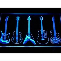 Guitar Weapons Band Room Neon Sign (Light. LED)