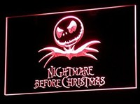 Nightmare Before Christmas Neon Sign (Light. Man Cave. NBC. LED)