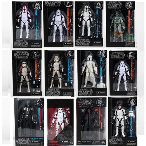 17 cm Star Wars The Black Series Boba Darth Maul Vader Phasma Hab Solo PVC Action Figure Toy Doll